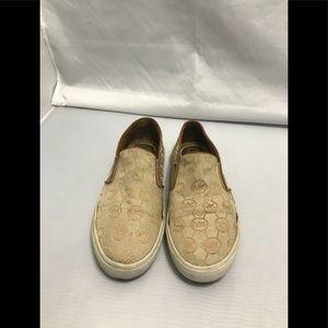 Michael Kors slip on signature shoes tan size 10M